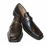 Mens Slip on  Dress Shoes Leather Lined Brand New Shoes D.Brown -Petter-AD72816