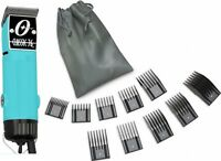 New Oster Classic 76 Aqua Light Blue Limited Edition Hair Clipper+10 PC Comb Set