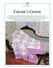 Caesar's Crown ~ Quilt & Block, Best-Loved Quilt sewing pattern & templates