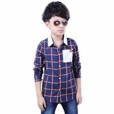 Magliette, maglie e camicie blu a manica lunga in misto cotone per bambini dai 2 ai 16 anni