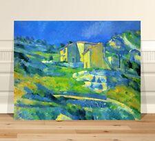 "Paul Cezanne Houses ~ FINE ART CANVAS PRINT 8x10"" Impressionist"