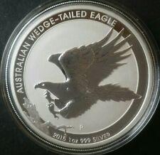 2015 P Australia $1 1oz Silver Wedge-Tailed Eagle in Mint Capsule