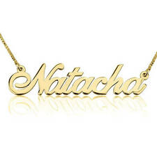 Classic Name Necklace 24K Gold Plated  - Customize it with any name/word