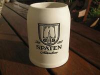 Spatenbräu München, Bierkrug, beige unglaciert, 0,5 ltr.