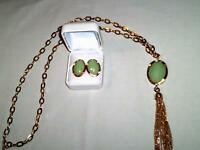 Long Tassel Necklace and Earring Set - New