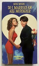 So I Married an Axe Murderer (1993) - VHS Movie - Comedy Mike Myers Nancy Travis