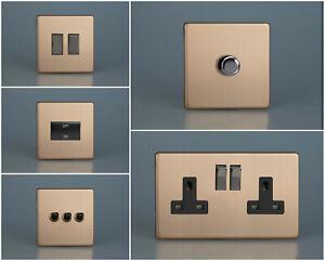 Varilight Screwless Urban Brushed Copper Range - Iridium Switches