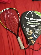 Head  Titanium Ti.Rocket Racquetball Racquet With Case 3 5/8 grip