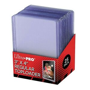25x Ultra Pro Toploaders CLEAR * Card Protector * Top Loader Pokemon cards