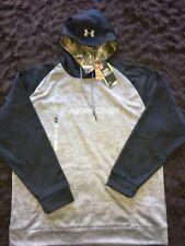 UNDER ARMOUR Mens 2XL XXL Loose Gray Camo Storm Hoodie Hooded Sweatshirt NEW NWT