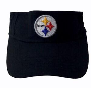 Reebok Pittsburgh Steelers Visor Youth Adjustable Strap OSFA Steelers Logo NWOT