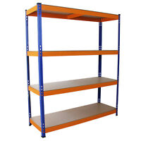 Heavy Duty Shelving S-RAX Racking 4Tier 150cm Wide Metal Garage Storage Units