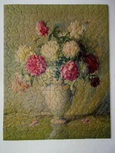 Vintage Jigsaw Puzzle Tuco Blooming Beauties300+16x20Complete flowers