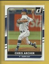 Chris Archer 2016 Panini Donruss Card # 152 Tampa Bay Rays Baseball MLB