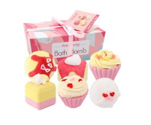 Dessert Bath Bombs 6 Pieces Gift Set Women Scented Moisturizes Regenerates Skin