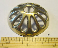 """(1) 2"""" Cast Brass Heat Cap  -  Ideal for Stained Glass Lamps"""