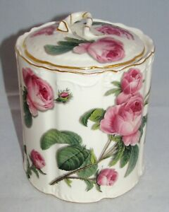 "burton+Burton ROMANTIC ROSE Porcelain Roses Scalloped 5"" COVERED CANISTER"