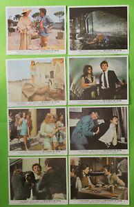 Full set 8 UK Lobby Cards 8x10 FRAGMENT OF FEAR 1970 David Hemmings Adolfo Celi