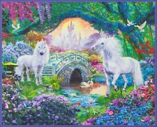 Picture This-Sweet Panel-Kaufman-1 Yd. Panel-Unicorns-Digital Print