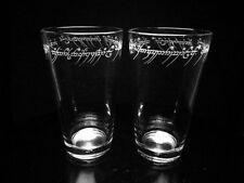 Lord of the Rings Etched Pint Glass Set of Two -Black Speech Inscription