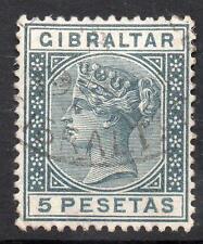 Gibraltar Qv 1889-95 sg33 5p Gris f/u