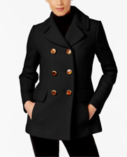 Kate Spade New York Women's Double-Breasted Pea-Coat Delft Black
