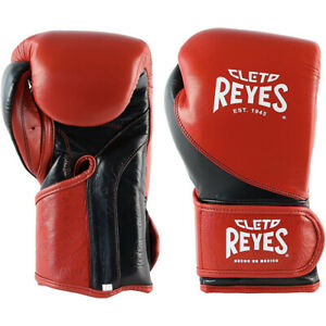Cleto Reyes High Precision Hook and Loop Training Boxing Gloves - Red/Black