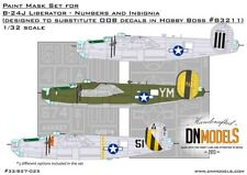 B-24J Liberator Insignia & Numbers Paint Mask Set for Hobby Boss #83211 1/32