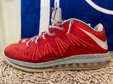 Nike Air Max LeBron 10 X Low, 579765-600, University Red/Grey, Mens Size 13
