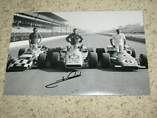MARIO ANDRETTI SIGNED INDY CAR DRIVER 8x12 PHOTO coa indy 500 winner 2