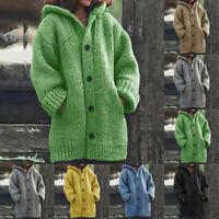 Women Jacken Winter Knitted Cardigan Loose Long Outwear Casual Coat Sweatshirt