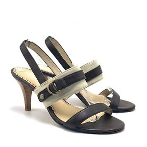 Genuine Johnston Murphy Women Heel Sandal 8.5M Leather Sole Strappy Casual Shoe