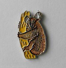 Wildlife Koala Bear Marsupial Brown Lapel Pin Badge 3/4 Inch