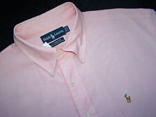 POLO RALPH LAUREN - COTTON OXFORD - 17/34 - CASUAL or DRESS - PINK - EUC