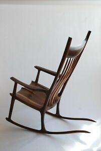 Rocking Chair inspired by Sam Maloof / walnut furniture / handcrafted furniture