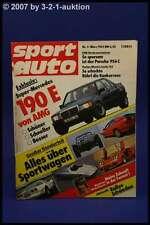 Sport Auto 3/83 190 E AMG Lotus Super Seven Corvette