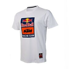 NEW Red Bull KTM Racing Team Logo WHITE SMALL Tee T-Shirt