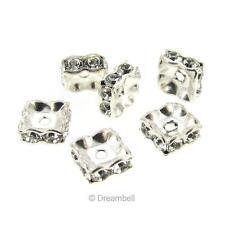6x Swarovski Elements Crystal Silver Squaredelle Bead Spacer 5mm 1431370-5M