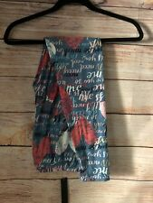 X009N Extended Tall & Curvy (Plus) Super Soft Leggings Graphic Hearts  Valentine