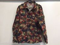 Swiss Military Surplus M83 Alpenflage Camo Army Jacket TOP COAT Size 52 LARGE