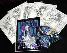 Fairy Art Adult Coloring Fantasy Angel Roller Derby Myka Art Trading Card Set 2