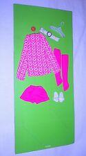 Vintage 1972 Francie Casey Twiggy Little Knits Outfit 3275 MOC Mint!