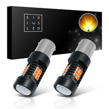 SiriusLED 2x 1157 600 Lumens Amber Yellow LED Turn Signal Rear Front Light Bulbs
