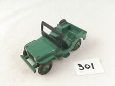VINTAGE DINKY TOYS #25Y / 405 WILLYS UNIVERSAL JEEP GREEN DIECAST 1954 NEAR MINT