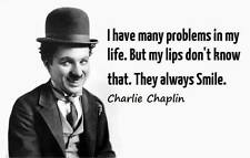 """A5 Print – Charlie Chaplin """"I Have Many Problems In My Life"""" (Picture Poster Art"""