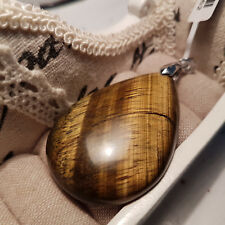 Beautiful 91.5ct Tiger's Eye Pendant set in Sterling Silver