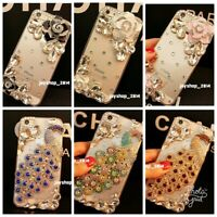Bling 3D Luxury Handmade Jewelled Crystal Diamond Soft Case For Apple iPhone