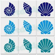 SEA SHELL Tile Stickers Bathroom Seashell Nautical Sticker Vinyl Wall 3 Designs