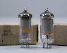 Pair NOS JRC 6AK6 Vacuum Tubes Military RCA 1960 ~ Test as Strong