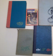 4 vintage scuba diving books, Underwater Sport, The Silent World, Skin and Scuba
